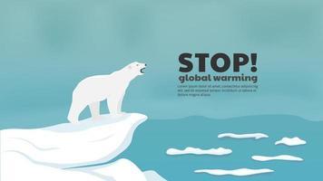 Stoppen Sie das Konzept der globalen Erwärmung vektor