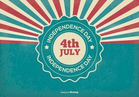 Retro självständighetsdag illustration