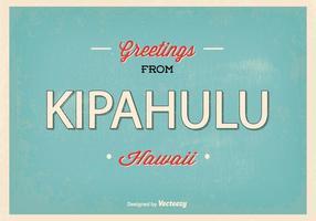 Kipahulu Hawaii Retro hälsning Illustration vektor