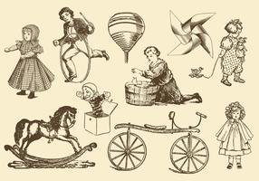 Antike Spielzeug-Vektoren