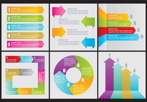 Vektor Flechas Pfeil Infografiken