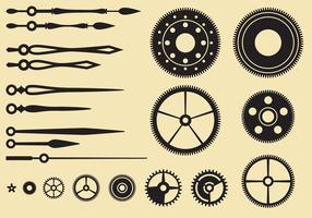 Uhrteile vektor