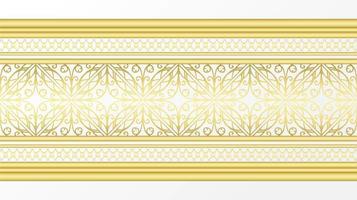 gyllene prydnadsgräns vektor