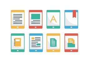 Kostenlose E-Reader Flat Icons