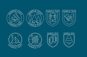 Bergsklättrare Logos vektor
