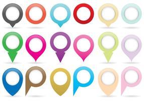 Karte Pins und Zeiger vektor