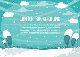 vinterlandskap med plats för text