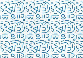 Blå kontur abstrakt mönster