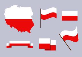 Gratis Polen Karta Vector