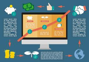 Aufwachsen Bussiness Infografik Vektor