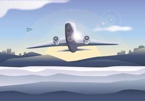 Avion planet vektor gratis
