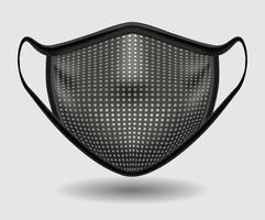 dunkle medizinische Maske vektor