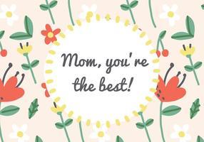 Mom ist der beste Kartenvektor vektor