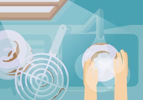 Vektor schmutzige Gerichte