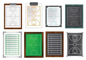 Kostenlose Playbook Icons Vektor