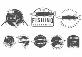 Pike-Fisch-Abzeichen vektor