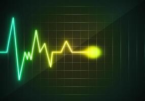 Herz-Monitor Wave frei vektor