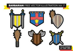 Barbarian free vector pack vol. 7