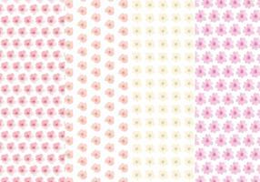 Niedliche Blumen-Vektor-Muster-Set