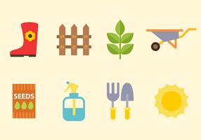 Free Gardening Elements Vektor