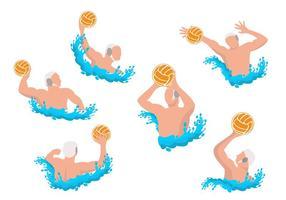 Wasser Polo Athleten Vektor