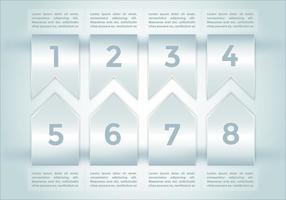 Bullet Points Infografiken Elemente Vektor 2