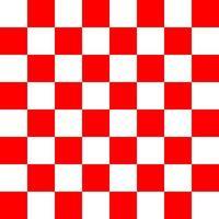 rotes und weißes Schachbrettmuster vektor