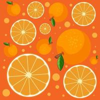 nahtloser Orangenscheibenhintergrund vektor