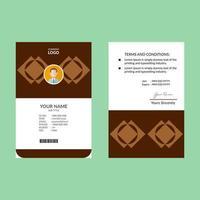 geometrische ID-Vorlage für braune Diamanten