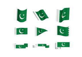 Gratis Pakistan Flaggvektorer