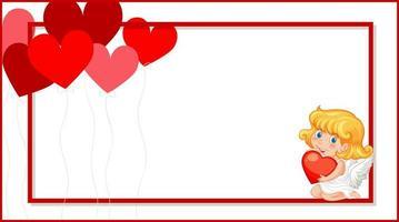 valentin bakgrund med cupid hjärtan vektor