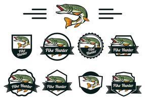 Gädda Fiskvektor vektor