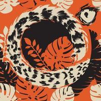 nahtloses Muster mit tropischen Motiven.
