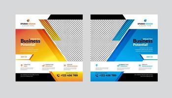 moderne quadratische Social Media Post Vorlage Design-Set