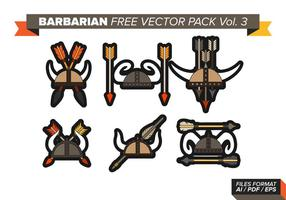 Barbarisk fri vektor pack vol. 3