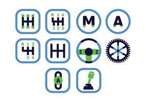 Freie Getriebe Icons vektor