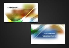 Free Vector bunte Visitenkarte Hintergrund