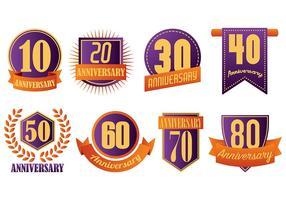 Kostenlose Aniversario Icons Vektor