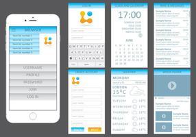 Blått webbsats för mobila enheter