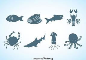 Meeresfrüchte Silhouette Vektor