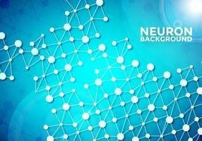 Neuron Hintergrund Vektor Vorlage