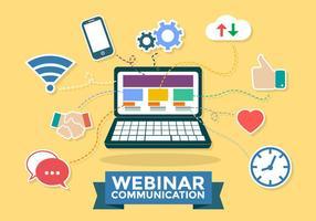 Webinar Kommunikation Infografischer Vektor