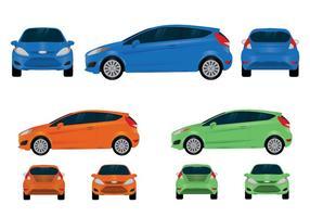 Ford Fiesta Vektor Ansichten