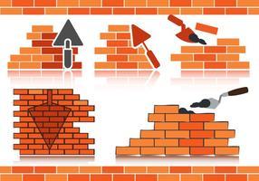 Stok vector bricklayer