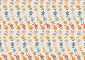 Blommor Pastellmönster vektor