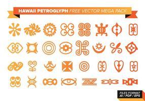 Hawaii Petroglyphen Free Vector Mega Pack