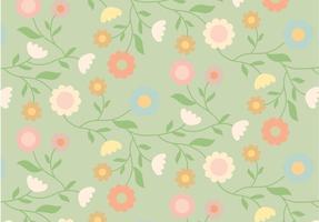 Vintage blommönster vektor