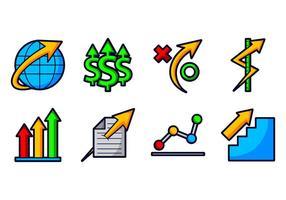 Wachsen Sie Geschäfts-Ikone auf vektor