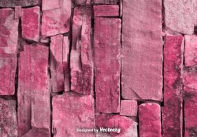 Vektor Realistisk Röd / Rosa Stonewall Texture