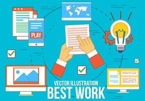 Kostenlose beste Arbeit Vektor-Icons vektor